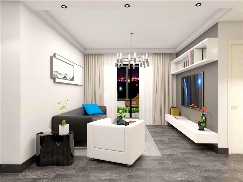 优雅黑白灰|优秀案例-简单家室内装修在线设计
